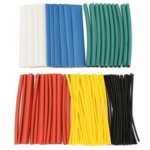 100Pcs Assorted Halogen-Free 2:1 Heat Shrink Tube Tubing Wire Cable Sleeving for Wrap Wire Set Tubing Wrap Sleeve(China)