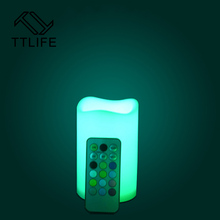 TTLIFE LED Electronic Flameless Candle Lights With Remote Control DIA Simulation Candle Lamp Pary Wedding Birthday Festival