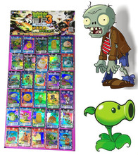 TCG 100Pcs PVZ Anime Collection Playing Cards Plants vs Zombies Game Action Figures Trading Cards kids Cartoon Gifts Toy