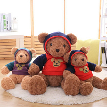 Fancytrader 1pc Giant Plush Teddy Bear in Halloween T-shirt Soft Halloween Brown Bears Decoration Gift for Children Friends