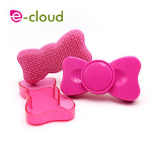 Lovely butterfly shape plastic comb curly hair comb magic massage salons volume comb Easy travel - taking a comb with mirror