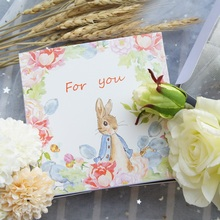 13.5*13.5*5cm 10pcs Peter Rabbit design Paper Box Cheese candy Cookie valentine gift Packaging Wedding Christmas Use