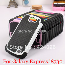 For Samsung Galaxy Express i8730 3 in 1 Armor Hybrid Combo Impact Rugged Armor Silicone PC Football Hard Case Cover