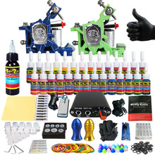 Solong Tattoo Complete Tattoo Kit for Beginner Starter 2 Pro Machine Guns 28 Inks Power Supply Needle Grips Tips TK204-14