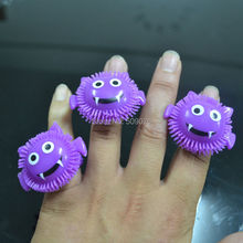 Free shipping 6pcs/lot purple LED flashing bat ring flash finger ring LED finger light ring for halloween props scary