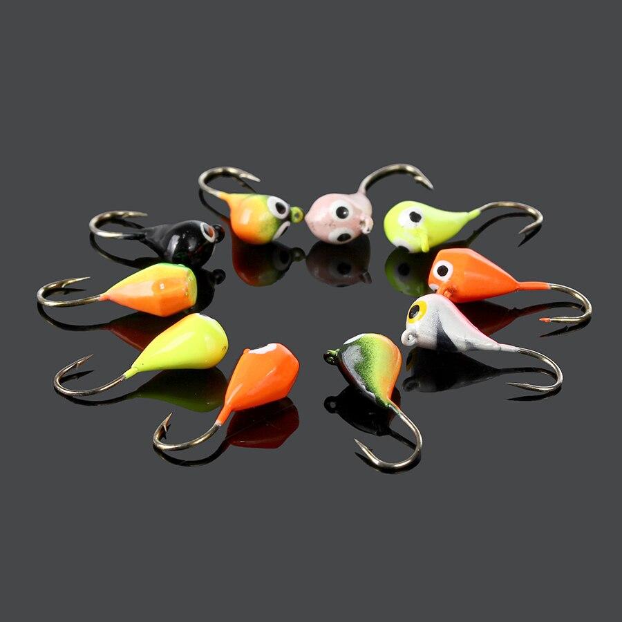 New Winter Fishing 10pcs/lot 2.5g 2.3cm Multi Color Ice Fishing Lead Round Jig Head Jigs Bait Hooks Fishing Lure Tackle<br><br>Aliexpress