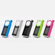 SMILYUO Brand New Shiny Mini USB Clip LCD Screen MP3 Music Player with  Power Cable Support 16GB Micro SD card mp3 Players