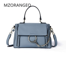 MZORANGEO 2018 Vintage Design Women Genuine Leather Cloe Bag Handbag Fashion Ring Shoulder Bag Small Brand Lady crossbody bags(China)