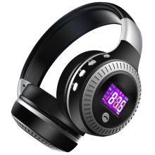 ZEALOT B19 HiFi Bass Stereo Bluetooth Headphone Wireless Headset LCD Display With Microphone FM Radio Micro-SD Card Slot(China)