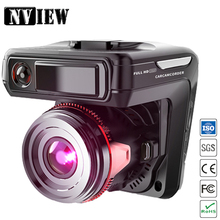 "NVIEW Russian Language 3 in 1 Auto Car DVR Camera Recoder Radar Detector Dash Cam Russian Vision GPS Tracker 2.4"" Screen Full HD"