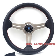 350mm Titanium Aluminum Spoke ND Racing Steering Wheel Auto Steering Wheel(China)