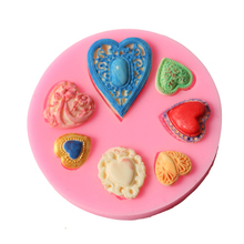 1PCS Valentine Gift Heart Silicone Mold Fondant Cake Decorating Tool Chocolate Candy Sugarcraft Wedding Mold For Baking(China)