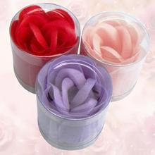 Cool 3pcs/Set Scented Flower Bath Body Soaps Soap Rose Petal For Bathing Color Red/Pink/Purple(China)