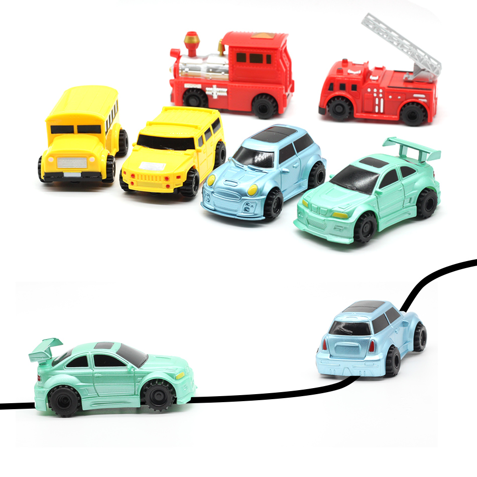 HOT Free Delivery Magic Pen Inductive Car Truck Follow Any Drawn Black Line Track Mini Toy Engineering Vehicles Educational Toy 2