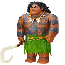 20cm Movie Moana Waialiki Maui Action Figures Toys Model Dolls with Music For Girls Kids Lover Christmas Gifts With Original Box(China)