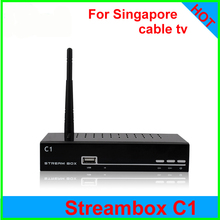 2PCS C1 streambox Singapore sta*hub cable tv set top box stream box c1 support N3 watch football hd drama channels builtin wifi