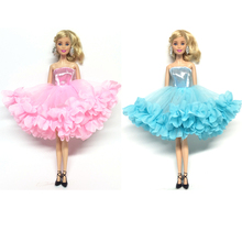 NK 2018 Newest Doll Dress Beautiful Multi-layer Dress Top Fashion Party Outfit For Barbie Doll For 1/6 BJD Dolls Accessories(China)