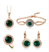 23 colour crystal jewelry set joyas oro blanco conjuntos de joyeria joias em ouro