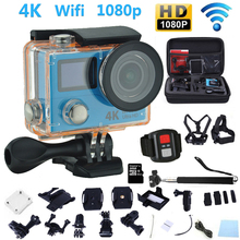 Wifi 4K Diving Action Camera 1080p 60fps Outdoor Waterproof Surfing Cameras Remote Control Deportiva Helmet bike record