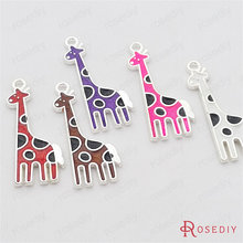 (29717-G)3PCS 31*12MM Silver color plated Zinc Alloy Oil Paintings Giraffe Charms Diy Handmade Jewelry Findings Accessories