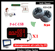 Calling bell system for restaurant With USB link to Computer With Waterproof Waiter Call Button,DHL Free Shipping