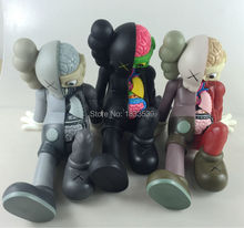 16 inch Kaws Companion kaws original fake black red and grey medicom toy factory prodct 100% real picture(China)