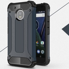 [Long Steven] For Moto G5 Case Unique Armor Anti-Knock Attached Dust Cap Cover For Motorola G5 Case For Moto G 5 Funda(China)