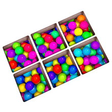 Practical 6pcs/set PVC creative 3D Colorful ball pattern non-slip waterproof plastic bathtub stickers monolithic size:13x13cm(China)