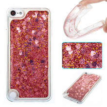 "Dynamic Liquid Phone Case For Apple iPod Touch 5 5th Cases Bling Sequin Quicksand Clear Cover For Apple iPod Touch 6 4.0""Coque"