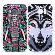 Amazing Jungle Animal Elephant Tiger Wolf Night Glow Light In Dark Slim Phone Cases Cover For Samsung Galaxy S6 S6Edge S7 S7Edge(China)