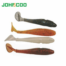 Fishing Lure 10pcs Pesca Soft Artificial Lure 7.5cm 3g Wobbler Grub Swimbaits Jig Head Texas Rig Bass Lures Soft Bait JOHNCOO