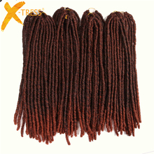 X-TRESS 20Strands 20'' Soft Dreadlocks Crochet Braids Kanekalon Jumbo Dread Hairstyle Ombre Synthetic Braiding Hair Extensions