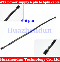 Free shipping ATX power supply 6 pin module line graphic and power cable 6pin male to male 50pcs