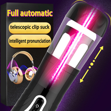 Buy 2018 New Full automatic telescopic sucking masturbation cup male masturbator vibrator voice sex machine men erotic toys