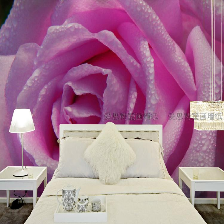 Free Shipping bedroom wallpaper TV background wall mural 3D marriage room bed personality rose wallpaper mural<br><br>Aliexpress