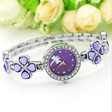 WAOUKS The new four-leaf bracelet wristwatch is exquisite diamond steel band fashion lady bracelet watch(China)