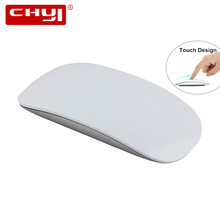 Silent Slim USB Wireless Touch Mouse 1200DPI Ergonomic Optical Scroll Wheel Touch Mause For Mac apple Microsoft Computer Mice(China)