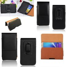 Belt Clip Holster PU Leather Pouch Case Cover For BlackBerry DTEK60/Oukitel U15S/Highscreen Omega Prime XL Case(China)