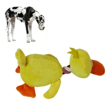 Small Pets Playing Fun Toy Pet Puppy Dog Toys Plush Duck Shaped Sound Squeaker Chewing Toys Clean And Exercise Dogs Teeth.(China)