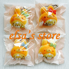 squishies wholesale 20pcs kawaii rare squishy melody with Rilakkuma squishy with tags kids squzee toys phone strap Free Shippin(China)