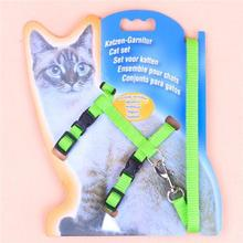 Hot 1 Set On Sale New polyester Pet Cat Dog Doggie Puppy patterned Leash Leads Harness Belt Traction Rope(China)