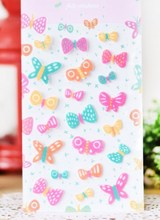 Pretty Cartoon Colorful Butterfly Printed Felt Sticker DIY Nonwoven Felt Fabric