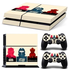Star Wars Cartoon Vinyl Decal PS4 Skin Stickers Wrap for Sony PlayStation 4 Console and 2 Controllers Decorative Skins