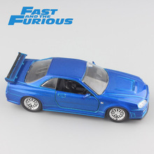 Jada 1 32 Scale FAST and FURIOUS Brian's Nissan SkyLine GT-R R34 metal diecast model sport race cars auto mini gift toys for boy(China)