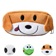 New car-styling Auto bags 2017 Cartoon Pencil Case Plush Large Pen Bag For Kids Car storage(China)