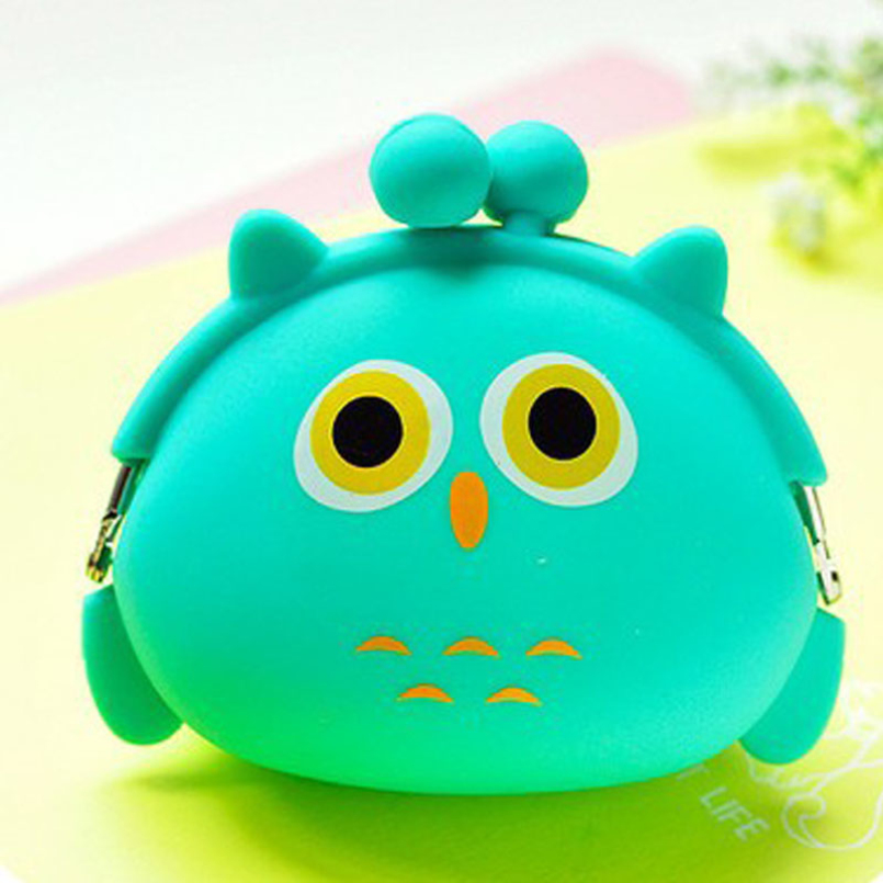 Excellent Quality Fashion Lovely Kawaii Candy Color Cartoon Animal Women Wallet Multicolor Jelly Silicone Coin Bag Purse Gift<br><br>Aliexpress
