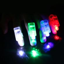Finger Lights LED Beams Party Supplies Laser Rings Raves Neon Glow LED Toys(China)