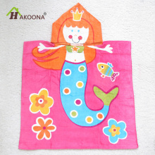HAKOONA Cartoon Little Mermaid Crown Gril Hooded Bath Towels Wearable Beach Towels Expand 60*120cm(China)