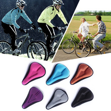 2016 Top Silica Gel Bike Seat Bicycle Saddle Bicycle Accessory Cycling Seat Mat Comfortable Cushion Soft Seat Cover A34