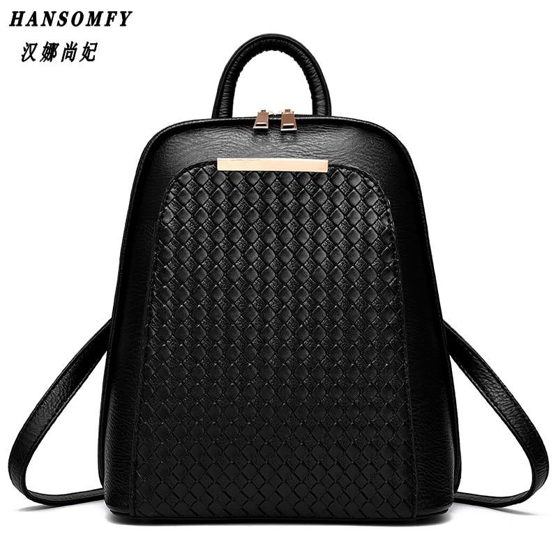 100% Genuine leather Women backpack 2017 New Tide female backpack spring summer students fashion casual Korean women bag<br>